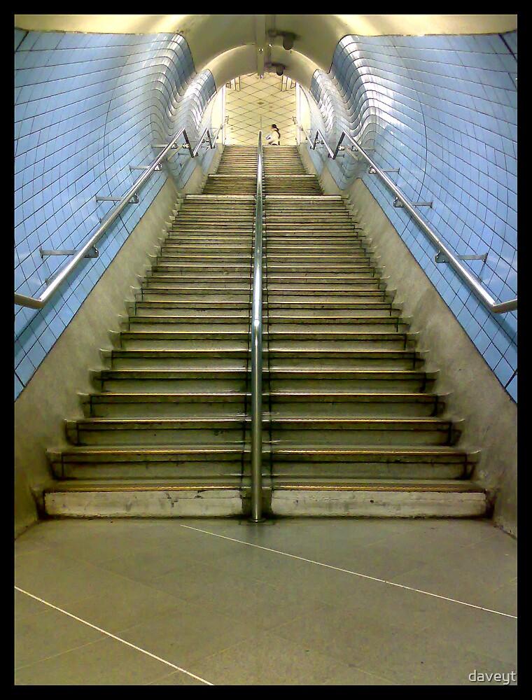 London underground steps (Up) by daveyt