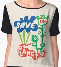Save the Planet  Chiffon Top