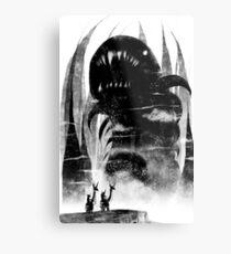 Death Worm Two Mounts Metal Print