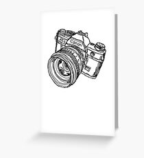 Classic SLR Camera Greeting Card