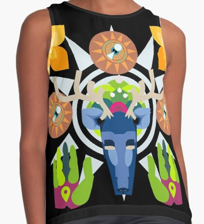 Connect With Your Past (Huichol Spirit) Contrast Tank