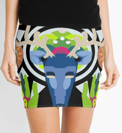 Connect With Your Past (Huichol Spirit) Mini Skirt