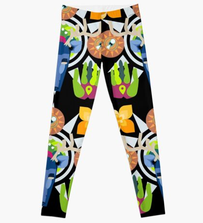 Connect With Your Past (Huichol Spirit) Leggings