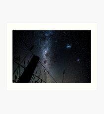 OB Flat Milky Way landscape Art Print
