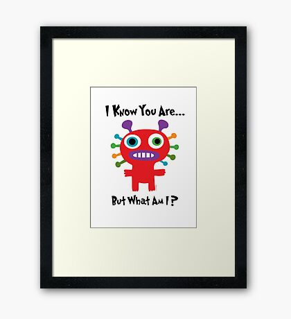 I know you are but what am I? Framed Print