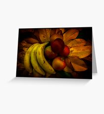 Fruit on Magnolia leaves Greeting Card