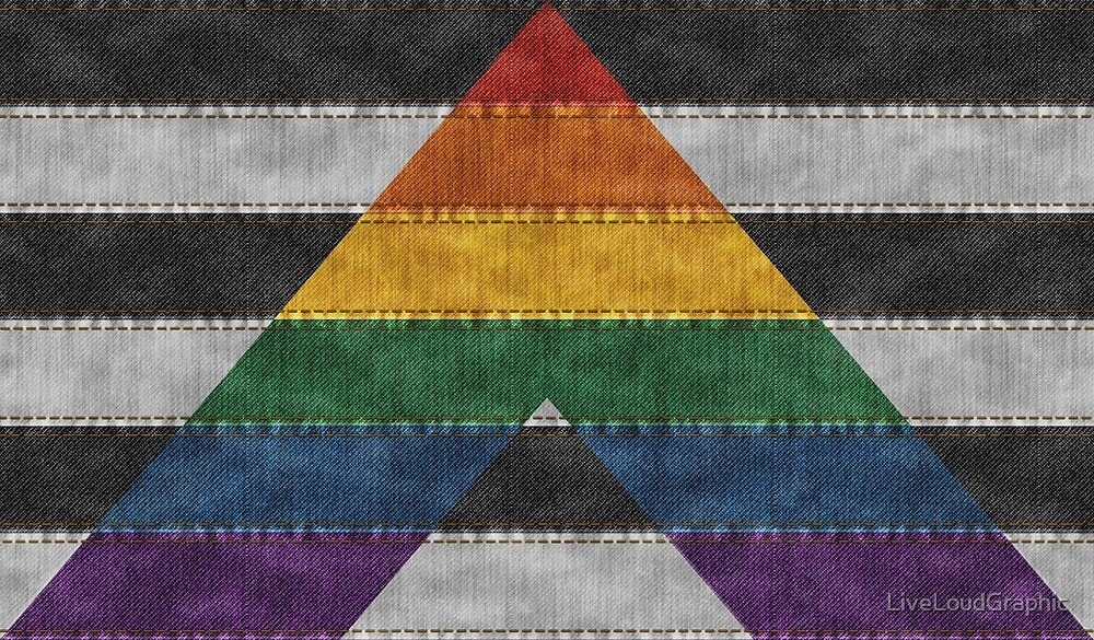 LGBT Ally Denim Flag by LiveLoudGraphic
