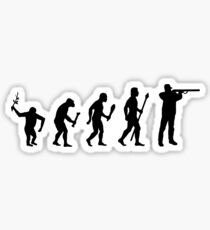 The Evolution Of Man And Hunting Sticker
