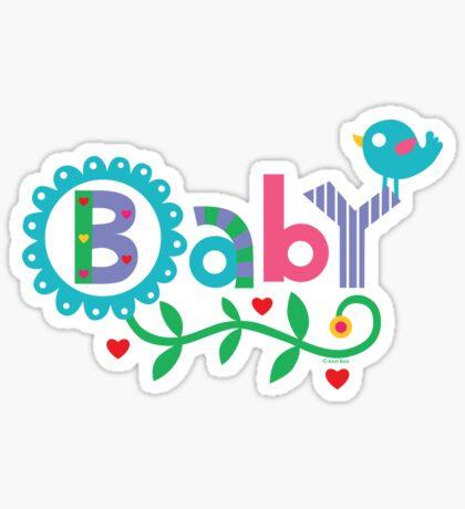 Baby and Bird - on lights Sticker