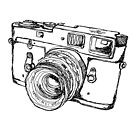 Rangefinder Style Camera Drawing by strayfoto