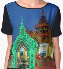 Myanmar. Mandalay. Bo Bo Gyi Nat Shrine. Illuminated Pavilion. Chiffon Top