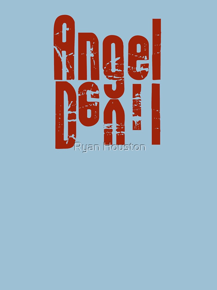 Angel Devil Red Letter by photoforyou