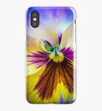 Pansy macro iPhone Case/Skin