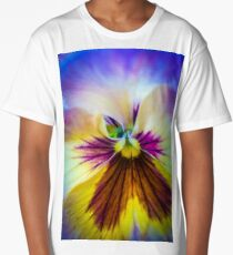 Pansy macro Long T-Shirt