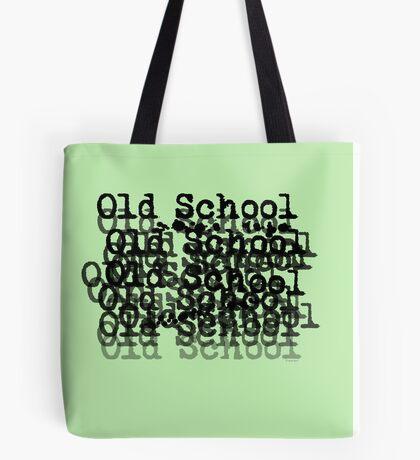 Old School - black Tote Bag