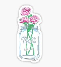 Mason Jar Flowers Sticker