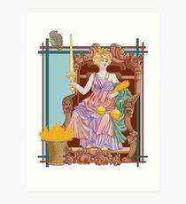Tarot Justice Art Print