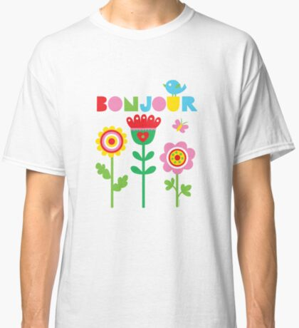 Bonjour - on lights Classic T-Shirt
