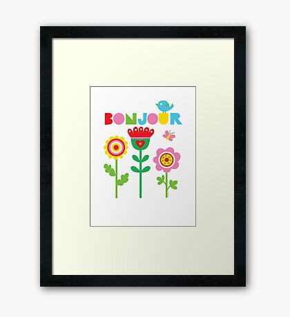 Bonjour - on lights Framed Print