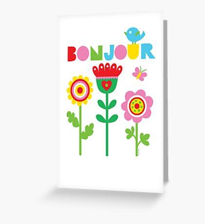 Bonjour - on lights Greeting Card