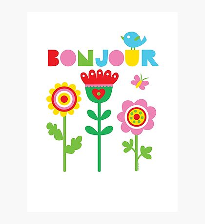 Bonjour - on lights Photographic Print