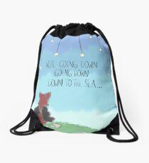 """Down to the sea."" Drawstring Bag"