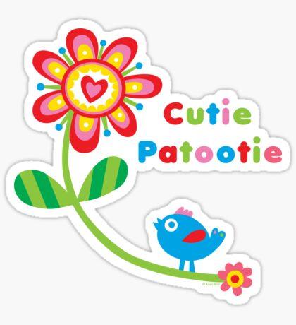 Cutie Patootie - on lights Sticker
