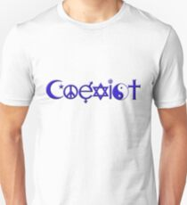 COEXIST blue Unisex T-Shirt