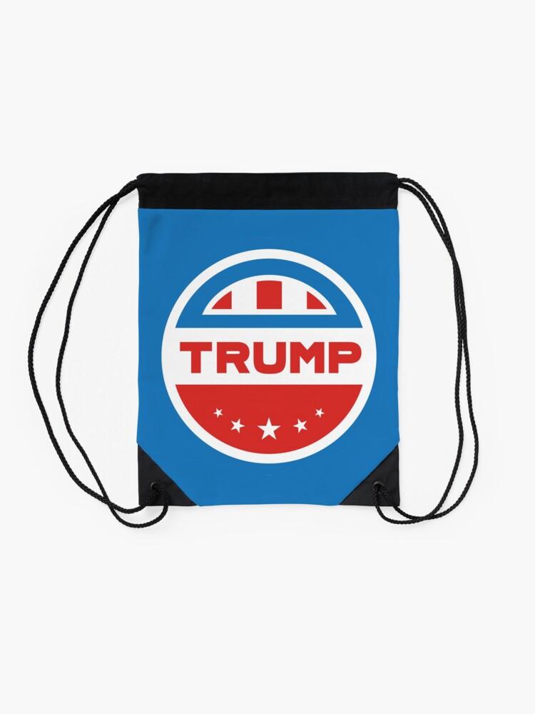 Alternate view of Trump American flag Drawstring Bag