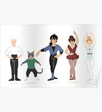 ballet positions - princess tutu Poster