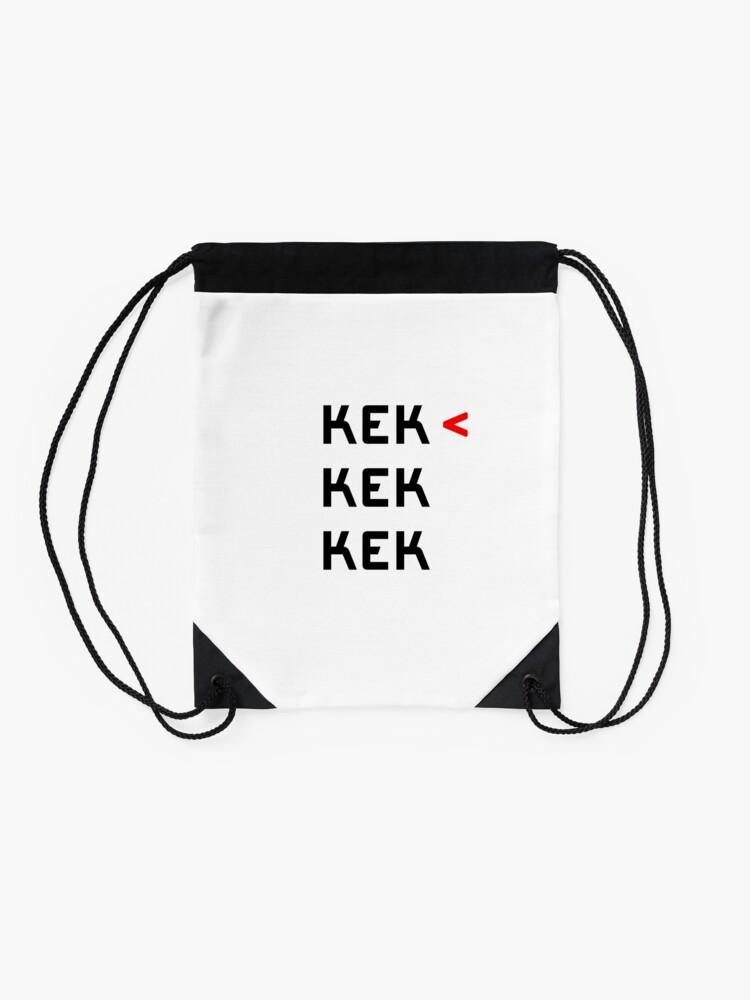 Alternate view of TOP KEK Drawstring Bag