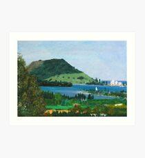 Mount Maunganui New Zealand, View From Te Puna Quarry Art Print