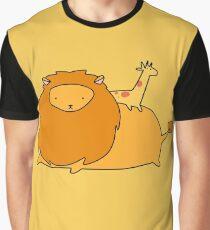 Lion and Tiny Giraffe  Graphic T-Shirt