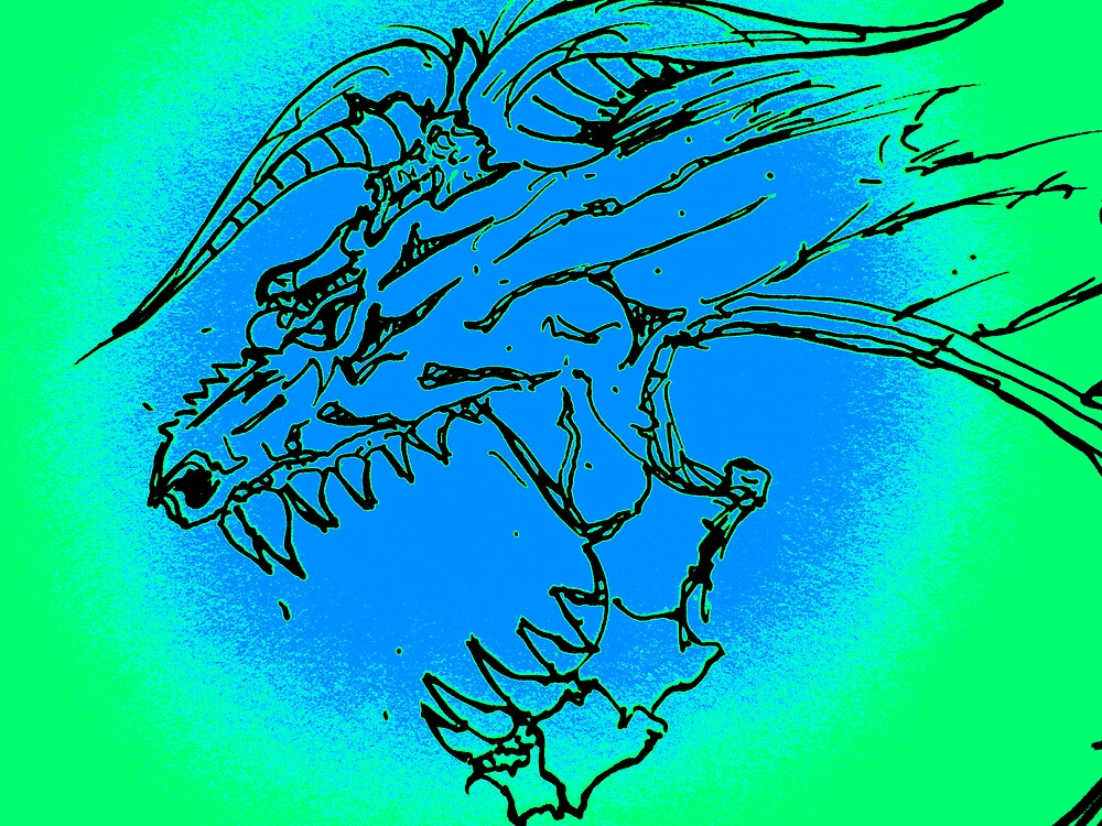 Blue Dragon by stephenmakesart