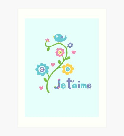 je t'aime - i love you - lights Art Print