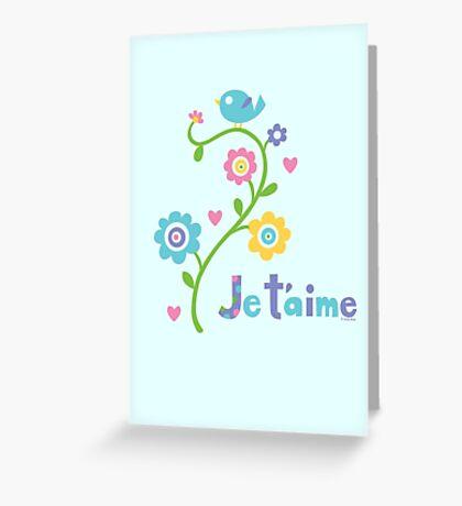 je t'aime - i love you - lights Greeting Card