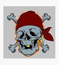 Pirate skull Photographic Print