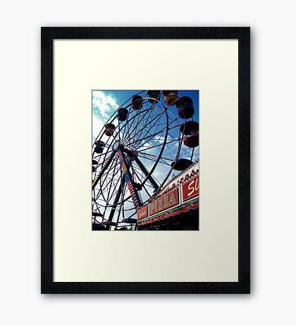 Pizza Wheel Framed Print