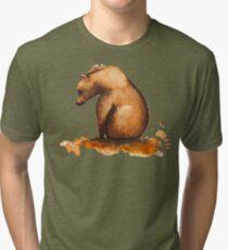 L Ours / The Bear  - CesPtitsPigments Tri-blend T-Shirt