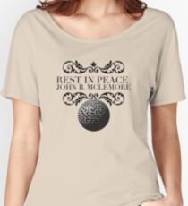 Victorian RIP John B Mclemore with Labyrinth  Women's Relaxed Fit T-Shirt