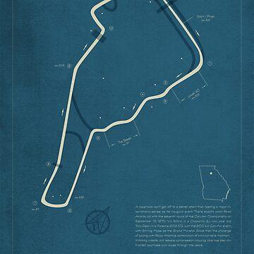 Road Atlanta road course by peterdials