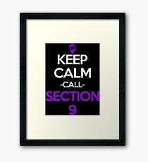 Section 9 Inspired Anime Shirt Framed Print