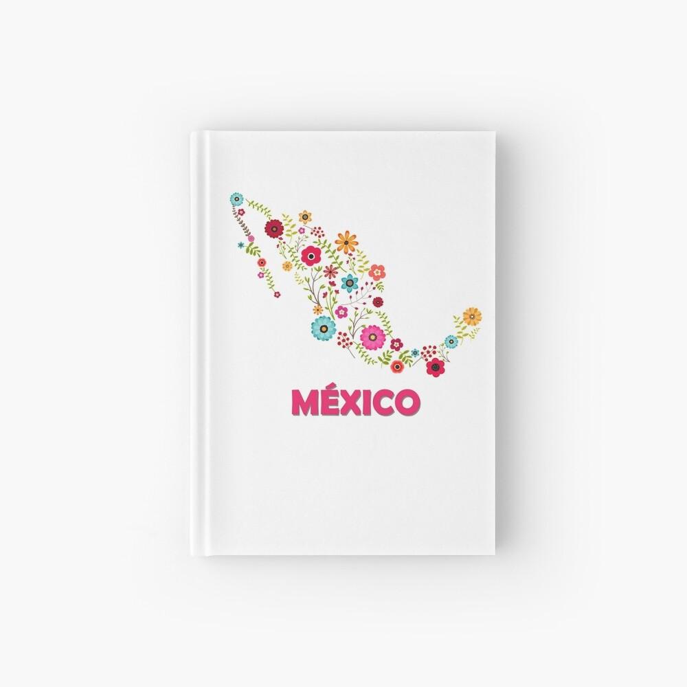 Mexico map flowers Cuaderno de tapa dura