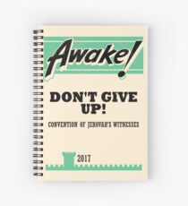 DON'T GIVE UP! (Vintage Awake!) Spiral Notebook