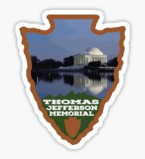 Thomas Jefferson Memorial arrowhead Sticker