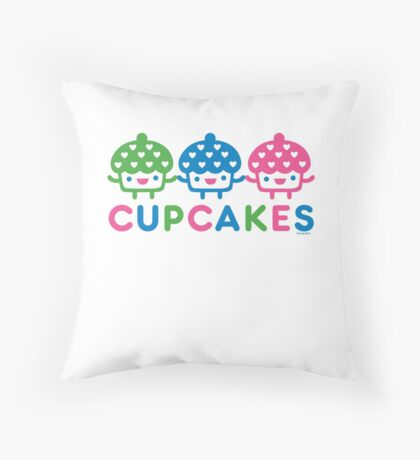 cupcake Fun light Throw Pillow