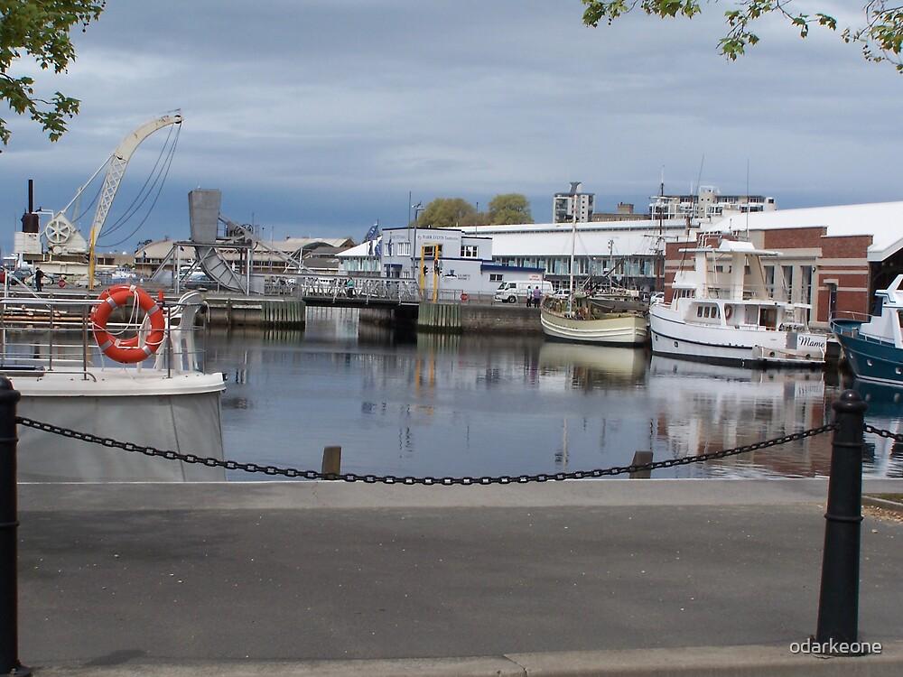 Boats in Hobart by odarkeone