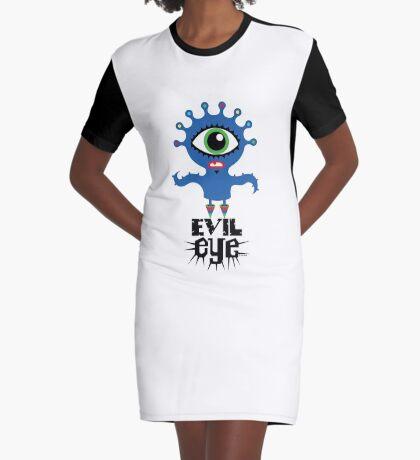 Evil Eye - on lights  Graphic T-Shirt Dress