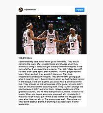 Rajon Rondo Chicago Bulls Instagram Post Leadership Photographic Print
