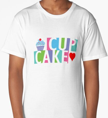 Cupcake love pink 4 Long T-Shirt